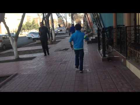 Uzbekistan,Tashkent Chilanzar street