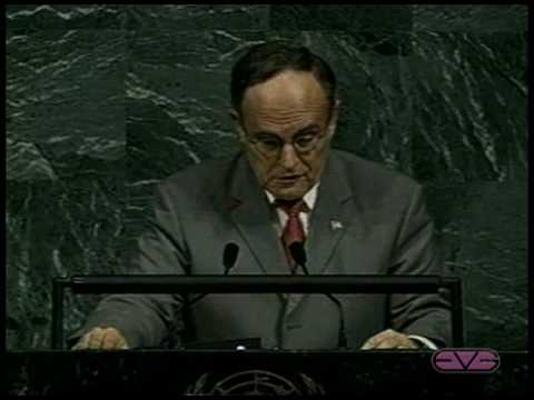 Rudolph Giuliani 9/11 Address to United Nations