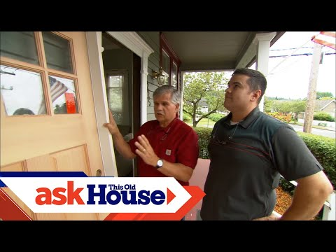 How to Install a Solid-Wood Exterior Door - YouTube