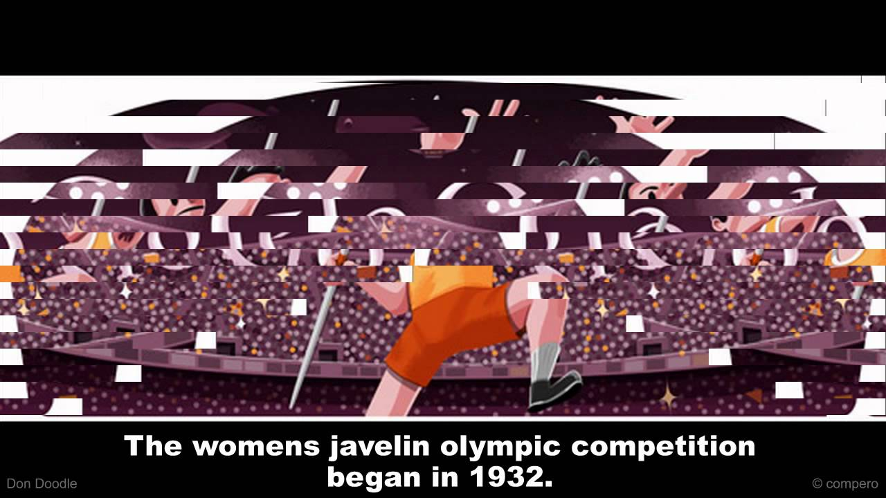 Olympics London 2012 Javelin Google Doodle Youtube