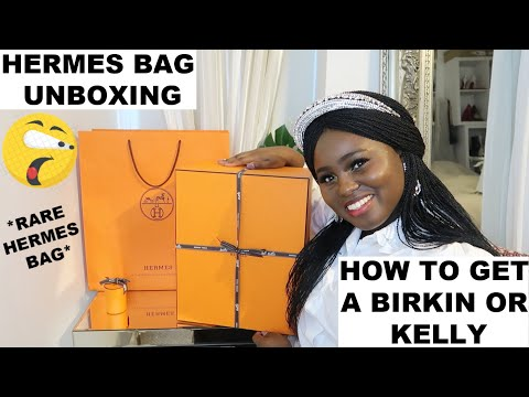 HERMES BAG UNBOXING | HOW TO GET A BIRKIN OR KELLY | *RARE HERMES BAG* | Fashion's Playground