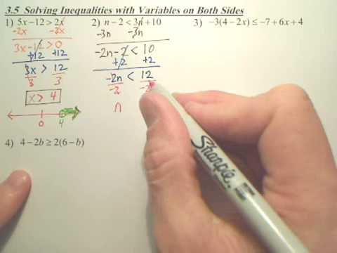 Solve Linear Inequalities with Variables on both sides ...