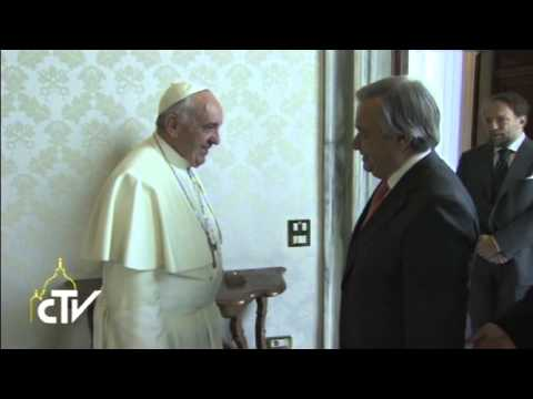 Italy: High Commissioner Guterres Meets Pope Francis