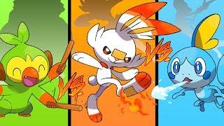 Scorbunny vs Sobble vs Grookey ¿CUAL ES MEJOR ESTADÍSTICAMENTE? EVOLUCIONES Pokémon Espada y Escudo