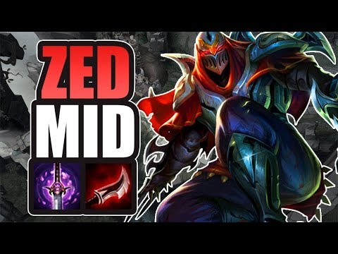 300 AD - ZED PROJETO MID GAMEPLAY - LEAGUE OF LEGENDS
