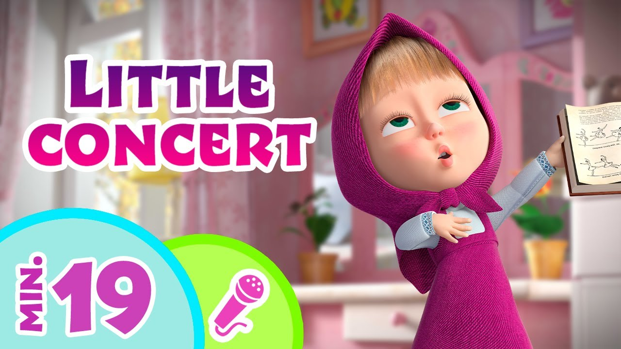 TaDaBoom English 🎹🎻 Little concert 🎻🎹  Karaoke collection for kids 🎵🎤 Masha and the Bear songs
