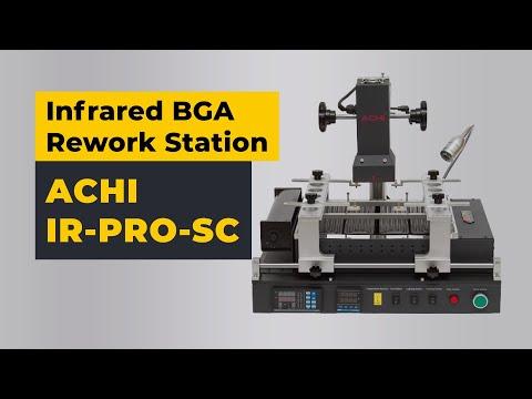ACHI IR-PRO-SC Infrared BGA Rework Station Video Review