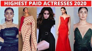 Top 10 Highest Paid Bollywood Actresses 2020 - Anushka Sharma, Alia Bhatt, Katrina Kaif