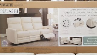 costco pulaski leather power reclining sofa 1099 loveseat 999
