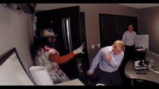 Clown scares Arizona Sports and KTAR Staff