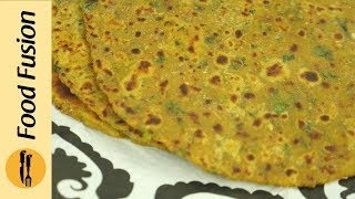 Besan ki roti and Lahsun ki chutney recipes by Food Fusion