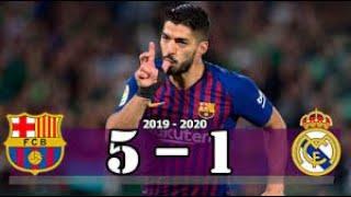 Suarez hattrick barcelona vs real madrid 5 1 goal & highlights resumen goles last matches