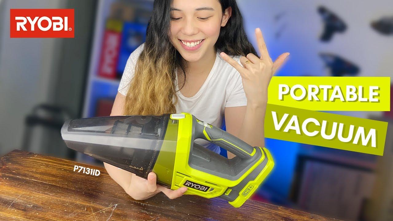 The BEST Portable Vacuum - Ryobi 18V Hand Vacuum Model P7131ID!