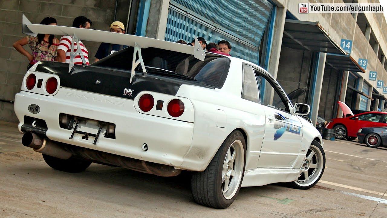 Nissan Skyline GTR R32 Drifts  Powerslide  Autodromo De Cascavel