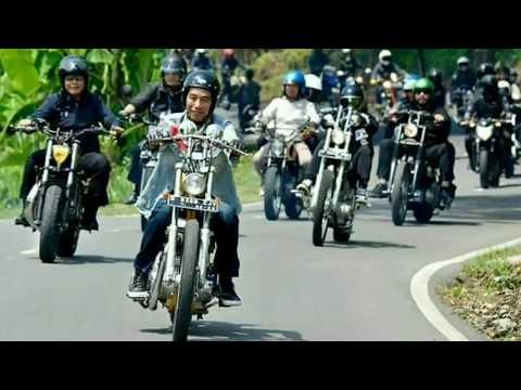 VIDEO PRESIDEN JOKOWI MENGENDARAI MOTOR CHOPPERLAND EMASNYA