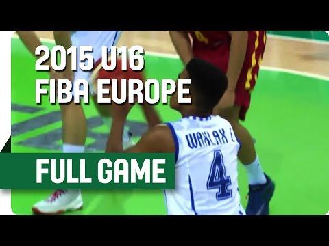 Finland v Montenegro - Group F - Full Game - 2015 U16 European Championship Men