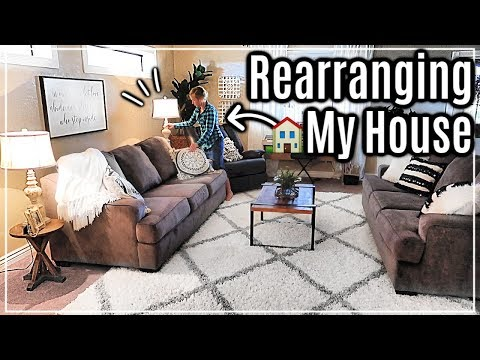REARRANGING FURNITURE AND REDECORATING MY HOUSE | FARMHOUSE STYLE DECOR