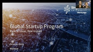 Webinar: How to scale your startup into a global business with GSP | Singularity University
