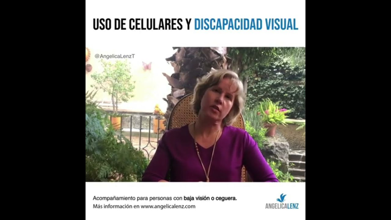Uso de celulares y discapacidad visual