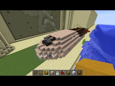Fully Functional Airship/Warship Build Video for Minecraft using Movecraft