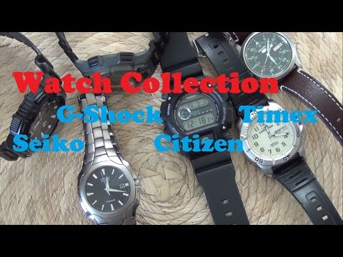 High Value Watch Collection - Seiko, Citizen, G-Shock & Timex