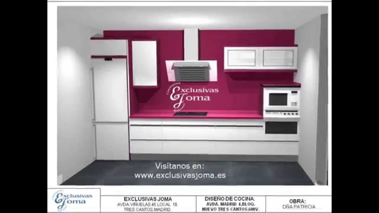 Dise o de cocinas en 3d exclusivas joma youtube for Diseno cocinas 3d