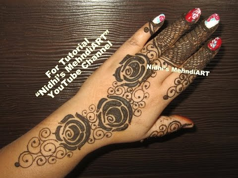 Stylish Roses Henna Mehndi Design For Hands Gulf Style Mehndi
