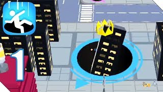 Hole.io Mobile Gameplay 1 AndroidiOS Walkthrough
