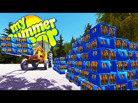 MY SUMMER BEER FORT! Outdoor Survival Challenge, Is the Cottage Haunted? - Gameplay Highlights Ep 70