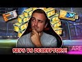 KEYS vs DECRYPTORS - Which Is Better? | Rocket League ELEVATION CRATE OPENING