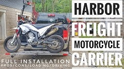Harbor Freight Motorcycle Carrier:  Install/Loading/Driving