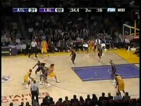 Kobe Bryant 23 points 5 steals vs Hawks 2007-08 *Big Dunk
