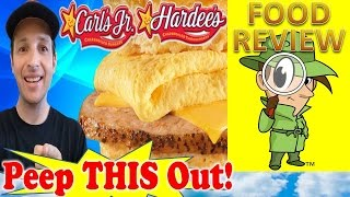 Carl's Jr.® | Hardee's® Grilled Pork Chop Biscuit With Egg & Cheese Review! Peep This Out!