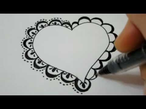 How To Draw A Lace Heart How To Draw Fancy Lace Around A