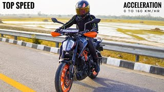 Duke 390 BS6 0 to 160 Acceleration Test | Top Speed