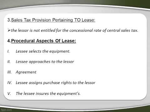 Special Studies Finance - Leasing