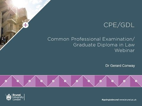 CPE Graduate Diploma in Law Webinar | Monday 13 June