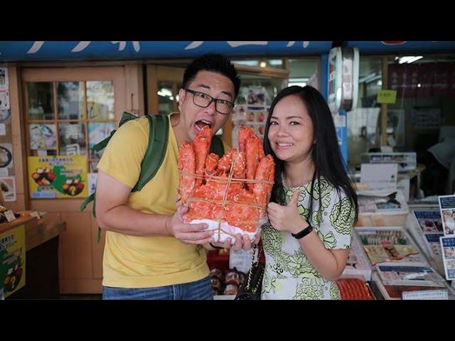 Life Vlog#9 มีอะไรในตลาดปลา Nijo Market ใน Sapporo