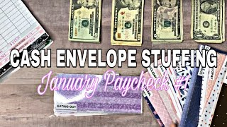 January Paycheck #1  Cash Envelope Stuffing   Budget With Me   Paycheck to Paycheck