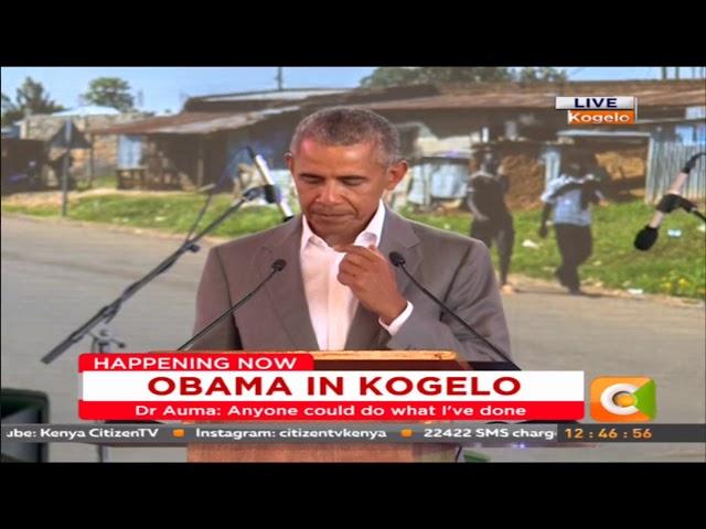 Obama's speech at the launch of Sauti Kuu Foundation in Kogelo #ObamaInKenya