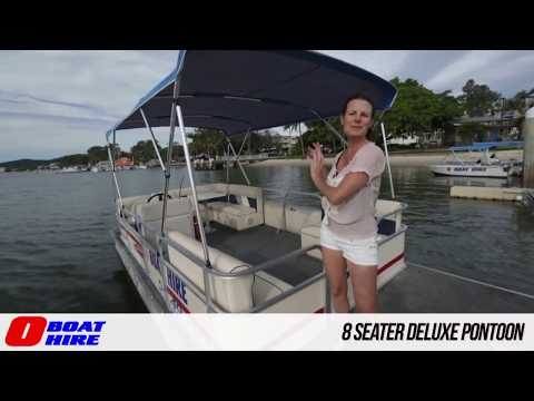 O Boat Hire - 8 Seater Deluxe Pontoon