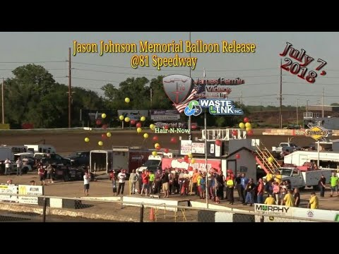 Jason Johnson Memoria Balloon Release, #RaginCajunStrong, 81 Speedway, 07/07/18