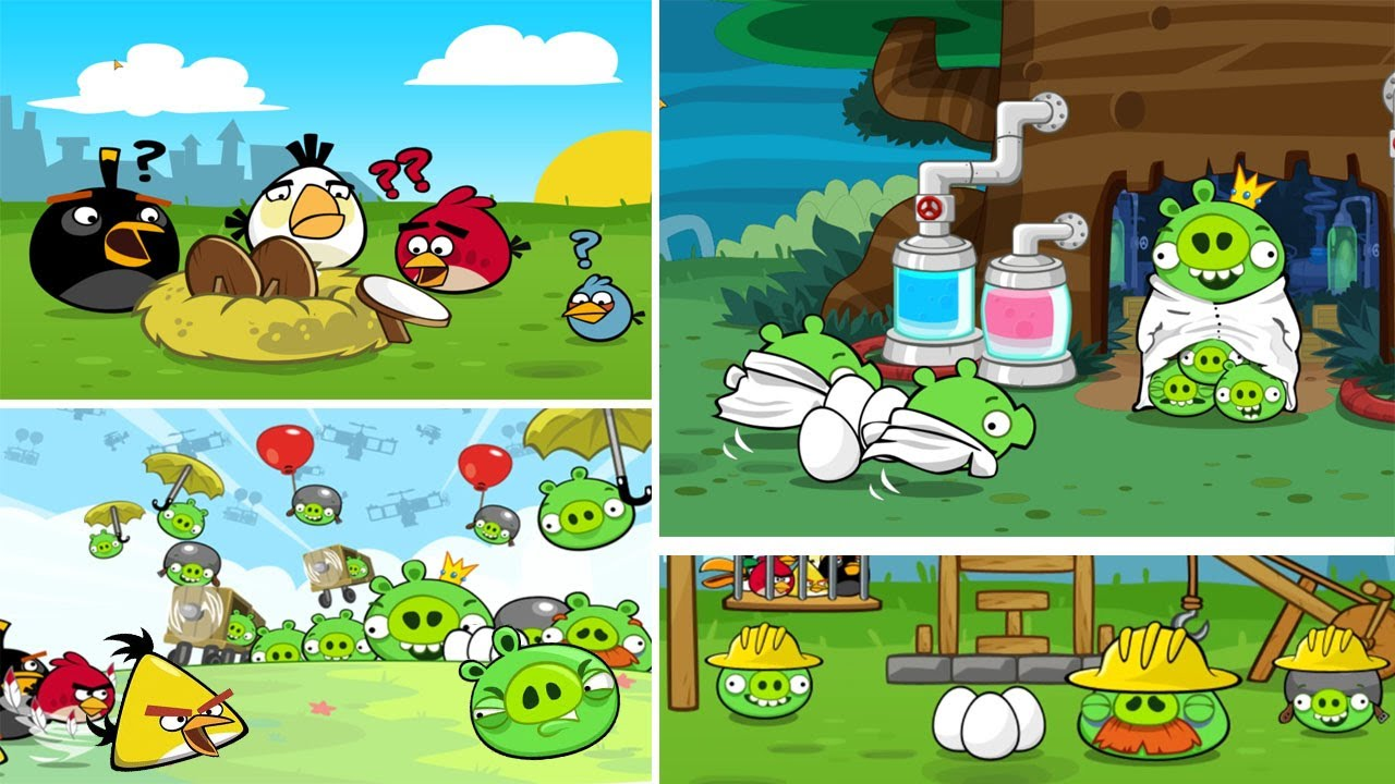 Angry Birds - ALL CUTSCENES in Angry Birds Classic! - YouTube