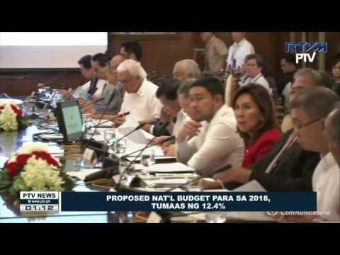 Proposed National budget para sa 2018, tumaas ng 12.4%