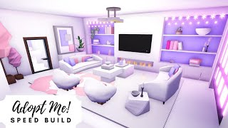 Crooked House Speed Build  Aesthetic Pink & Lilac  Roblox Adopt Me!