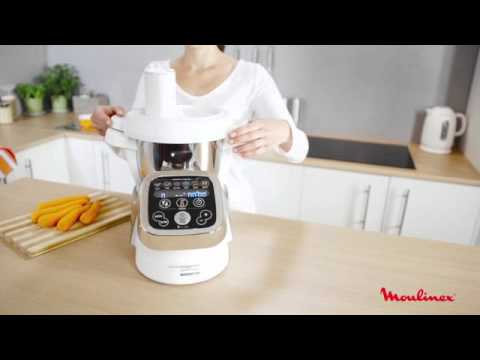 moulinex robot culinaire chauffant hf800a10 cuiseur cuisine companion youtube. Black Bedroom Furniture Sets. Home Design Ideas