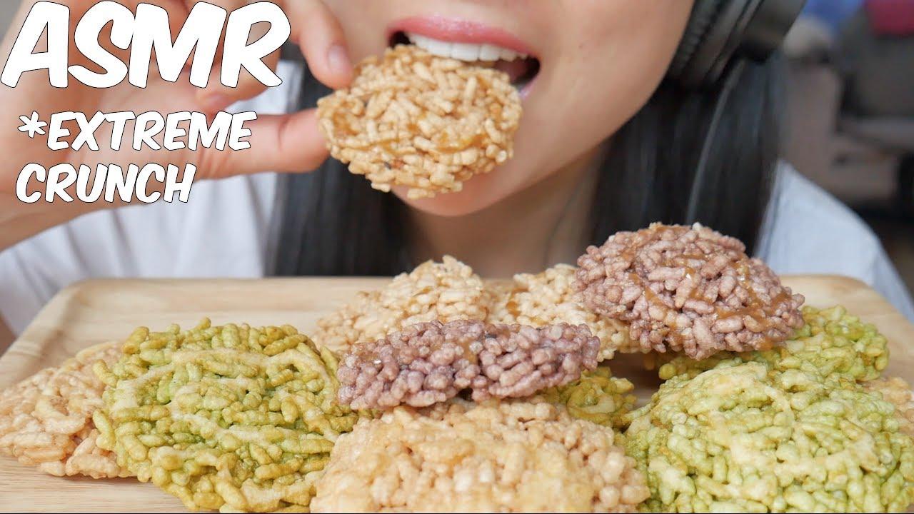 Asmr Deep Fried Sweet Sticky Rice Extreme Satisfying Crunch Eating Sound No Talking Sas Asmr Youtube Asmr freeze dry durian mochi pie (soft eating sounds) no talking. youtube