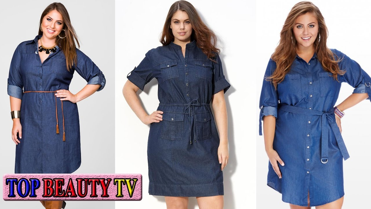 Top Plus size denim dress for women | Top Beauty TV - YouTube