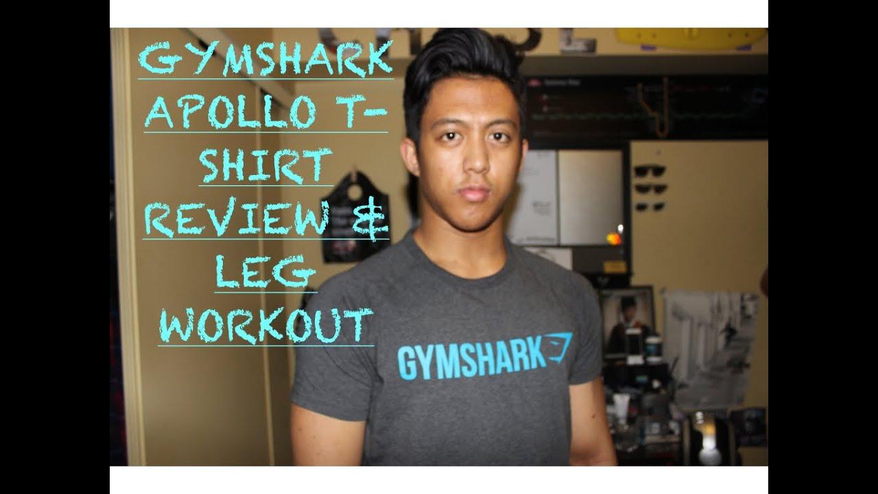 14d178357 Gymshark Apollo Tshirt Review | Leg Workout Routine - YouTube
