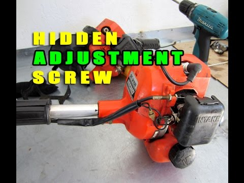 Hidden Adjustment Screw On Walbro Carburetors